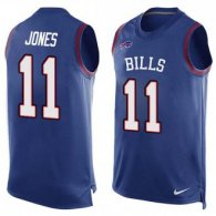 Nike Bills -11 Zay Jones Royal Blue Team Color Stitched NFL Limited Tank Top Jersey