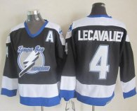 Tampa Bay Lightning -4 Vincent Lecavalier Black CCM Throwback Stitched NHL Jersey