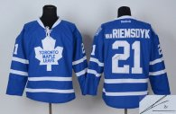 Autographed Toronto Maple Leafs -21 James Van Riemsdyk Blue Stitched NHL Jersey