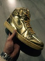 Super Max Perfect Air Jordan 1 Gold