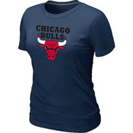 NBA Chicago Bulls Big Tall Primary Logo  Women T-Shirt (3)