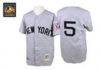 Mitchell And Ness 1939 New York Yankees -5 Joe DiMaggio Grey Stitched MLB Jersey