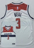 Washington Wizards -3 Bradley Beal New White Home Stitched NBA Jersey