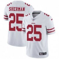 Nike 49ers -25 Richard Sherman White Stitched NFL Vapor Untouchable Limited Jersey