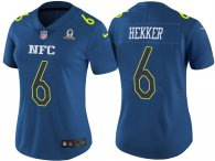 WOMEN'S NFC 2017 PRO BOWL LOS ANGELES RAMS #6 JOHNNY HEKKER BLUE GAME JERSEY