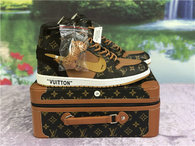 Authentic LV X OFF White X Air Jordan 1 with suitcase GS