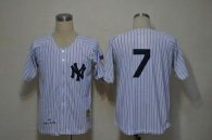 Mitchell And Ness 1951 New York Yankees -7 Mickey Mantle White Throwback Stitched MLB Jersey