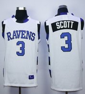 One Tree Hill Ravens -3 Lucas Scott White Stitched Basketball Jersey