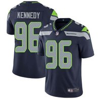 Nike Seahawks -96 Cortez Kennedy Steel Blue Team Color Stitched NFL Vapor Untouchable Limited Jersey