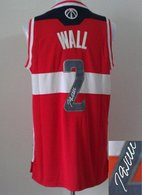Revolution 30 Autographed Washington Wizards -2 John Wall Red Stitched NBA Jersey