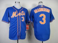 New York Mets -3 Curtis Granderson Blue Alternate Home Cool Base Stitched MLB Jersey