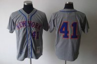 Mitchell and Ness 1969 New York Mets -41 Tom Seaver Grey Stitched MLB Jersey