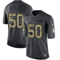 Seattle Seahawks -50 KJ Wright Nike Anthracite 2016 Salute to Service Jersey