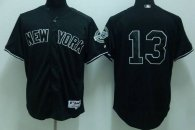 New York Yankees -13 Alex Rodriguez Stitched Black MLB Jersey