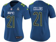 WOMEN'S NFC 2017 PRO BOWL NEW YORK GIANTS #21 LANDON COLLINS BLUE GAME JERSEY