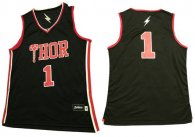 Thor -1 Black Stitched Basketball Jersey
