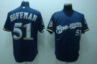 Milwaukee Brewers -51 Trevor Hoffman Stitched Blue MLB Jersey