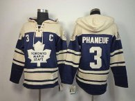 Toronto Maple Leafs -3 Dion Phaneuf Blue Sawyer Hooded Sweatshirt Stitched NHL Jersey