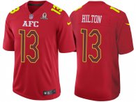 2017 PRO BOWL AFC TY HILTON RED GAME JERSEY