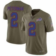 Nike Bills -2 Nathan Peterman Olive Stitched NFL Limited 2017 Salute To Service Jersey