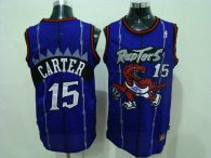 Toronto Raptors -15 Vince Carter Blue Swingman Stitched NBA Jersey