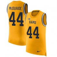 Nike Rams -44 Jacob McQuaide Gold Stitched NFL Limited Rush Tank Top Jersey