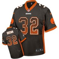 Nike Cleveland Browns -32 Jim Brown Brown Team Color Men's Stitched NFL Elite Drift Fashion Jersey