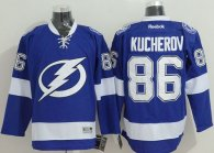 Tampa Bay Lightning -86 Nikita Kucherov Blue Stitched NHL Jersey