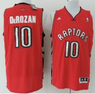Revolution 30 Toronto Raptors -10 DeMar DeRozan Red Stitched NBA Jersey