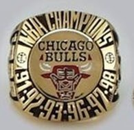 NBA Chicago Bulls World Champions Gold Ring_2