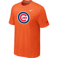Chicago Cubs Nike Heathered Orange Club Logo  T-Shirt