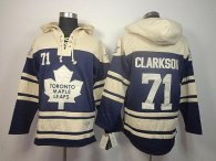 Toronto Maple Leafs -71 David Clarkson Blue Sawyer Hooded Sweatshirt Stitched NHL Jersey