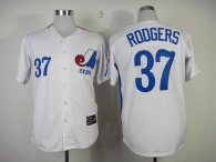 Mitchell And Ness Expos -37 Steve Rodgers White Throwback Stitched MLB Jersey