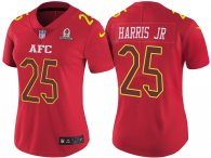 WOMEN'S AFC 2017 PRO BOWL DENVER BRONCOS #25 CHRIS HARRIS JR RED GAME JERSEY