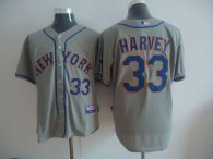 New York Mets -33 Matt Harvey Grey Road Cool Base Stitched MLB Jersey