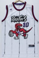 Toronto Raptors -10 DeMar DeRozan White Throwback Stitched NBA Jersey