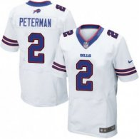 Nike Bills -2 Nathan Peterman White Stitched NFL New Elite Jersey