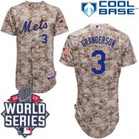 New York Mets -3 Curtis Granderson Alternate Camo Cool Base W 2015 World Series Patch Stitched MLB J