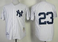 Mitchell And Ness 1995 New York Yankees -23 Don Mattingly Stitched White Throwback MLB Jersey