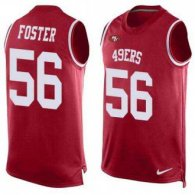 Nike 49ers -56 Reuben Foster Red Team Color Stitched NFL Limited Tank Top Jersey