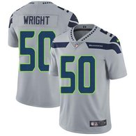 Nike Seahawks -50 KJ Wright Grey Alternate Stitched NFL Vapor Untouchable Limited Jersey