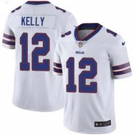 Nike Bills -12 Jim Kelly White Stitched NFL Vapor Untouchable Limited Jersey