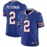 Nike Bills -2 Nathan Peterman Royal Blue Team Color Stitched NFL Vapor Untouchable Limited Jersey