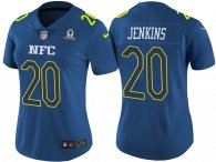 WOMEN'S NFC 2017 PRO BOWL NEW YORK GIANTS #20 JANORIS JENKINS BLUE GAME JERSEY