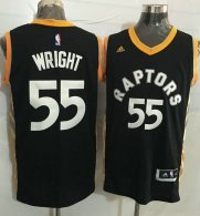 Toronto Raptors -55 Delon Wright Black Gold Stitched NBA Jersey