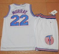 Space Jam Tune Squad -22 Bill Murray White Stitched Basketball Jersey
