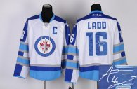Autographed Winnipeg Jets -16 Andrew Ladd Stitched White 2011 Style NHL Jersey