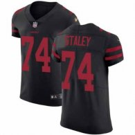 Nike 49ers -74 Joe Staley Black Alternate Stitched NFL Vapor Untouchable Elite Jersey