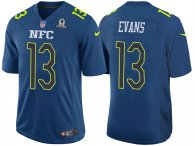 2017 PRO BOWL NFC MIKE EVANS BLUE GAME JERSEY