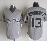 New York Yankees -13 Alex Rodriguez Grey New Cool Base Stitched MLB Jersey